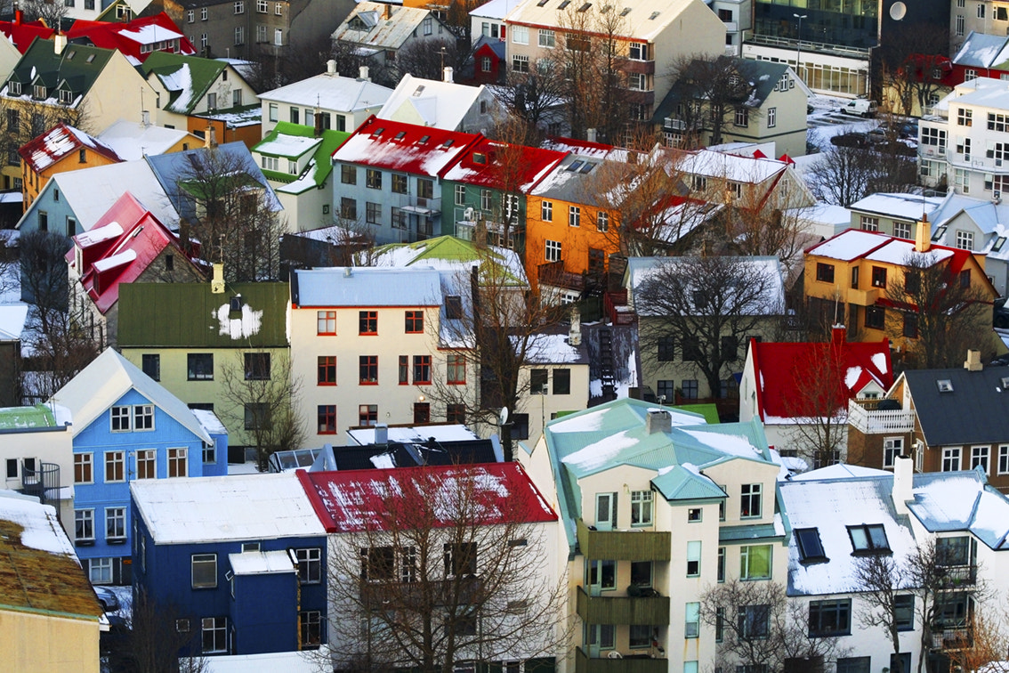 Photograph Reykjavic Rooftops by Wade Odlum on 500px