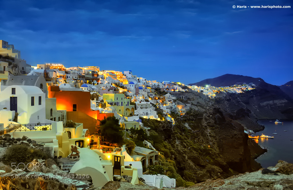 Photograph Oia At Night by Haris Vithoulkas on 500px