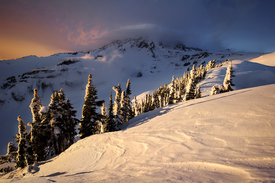 Photograph Winter on Mt. Rainier by Alex Mody on 500px