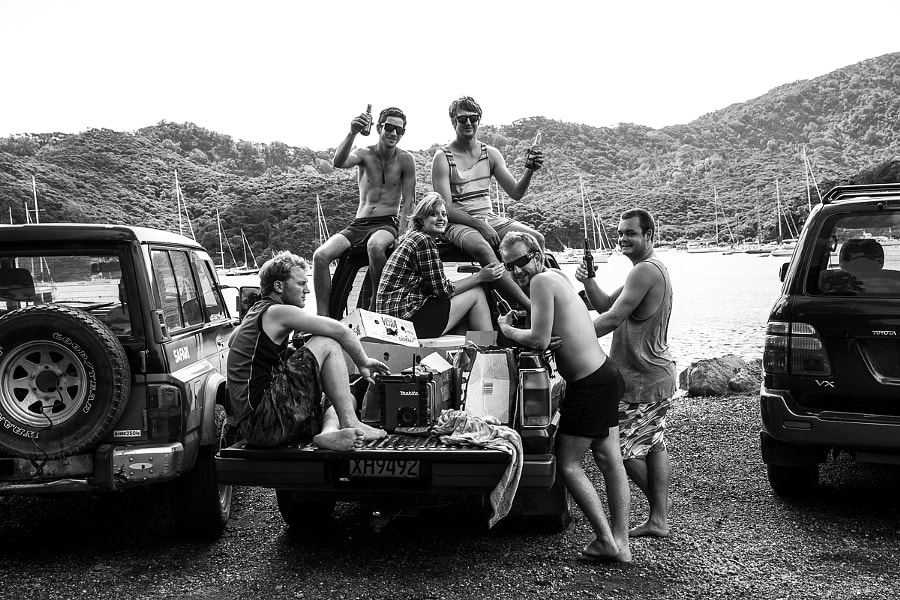Life is a beach on a pick up truck