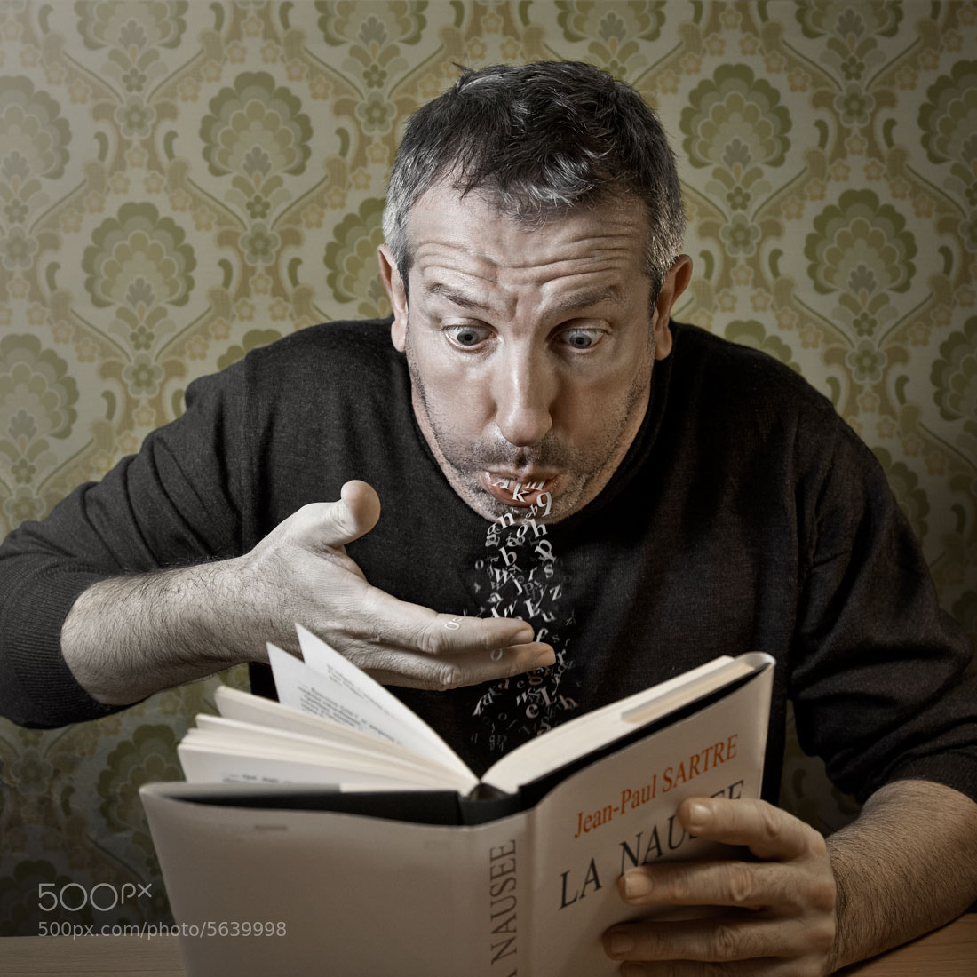 "Photograph Reading ""Nausea"" (Jean Paul Sartre) by Pierre Beteille on 500px"