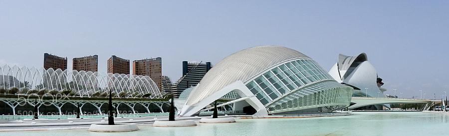 Hemisfèric at the City of Arts and Sciences, Valencia, Spain