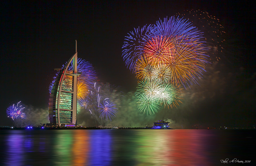 Photograph Dubai 2014 Happy New year by Dalia Al Ameen on 500px