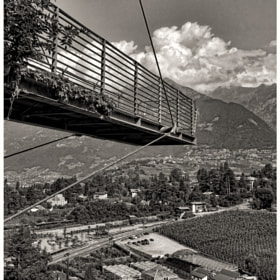 Another view from the garden trautmannsdorf in Merano, Italy.