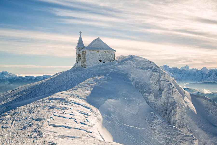Winter Chapel Dobratsch 2159m by Reinhold Samonigg on 500px.com