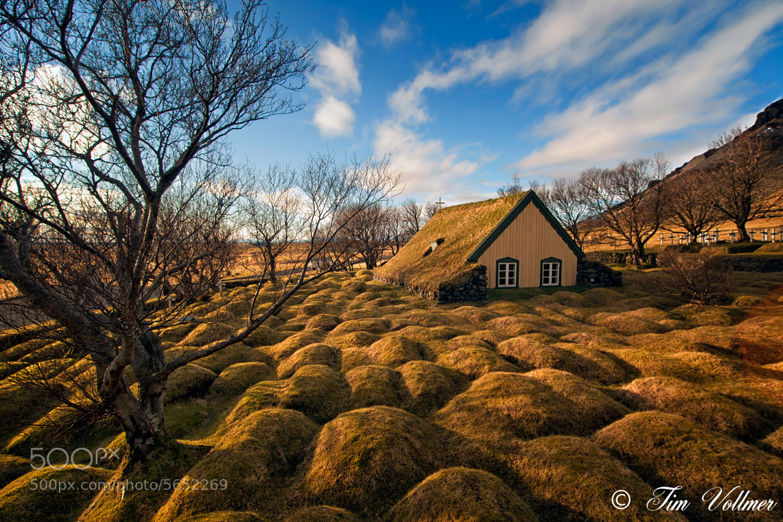 Photograph Wonderful turf church near Hof, South Iceland  by Tim Vollmer on 500px