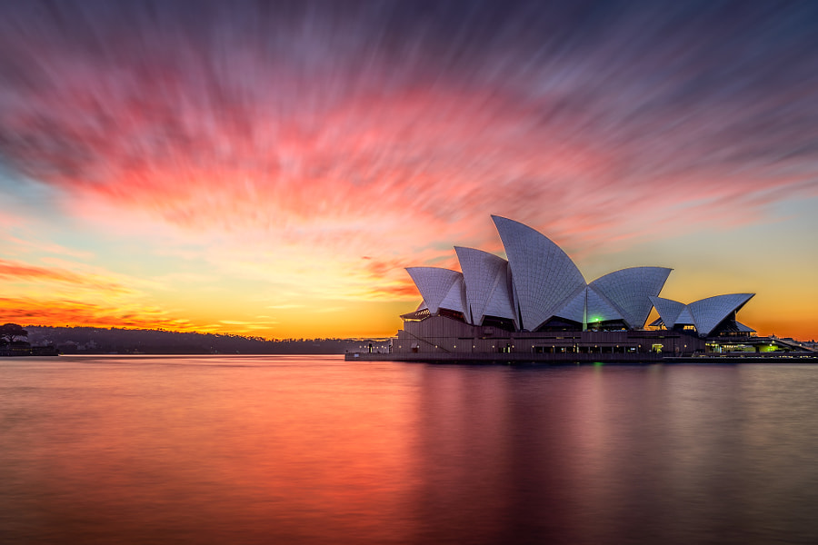 Sydney Opera House Red Sky by Martin Tyler on 500px.com