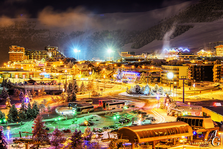 Alpe d'Huez, sparkling crystal in the embrace of the French Alps