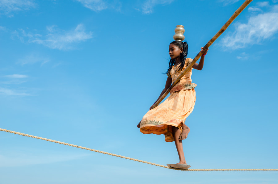 Rope Walking Angel by Gopinath Ram on 500px.com