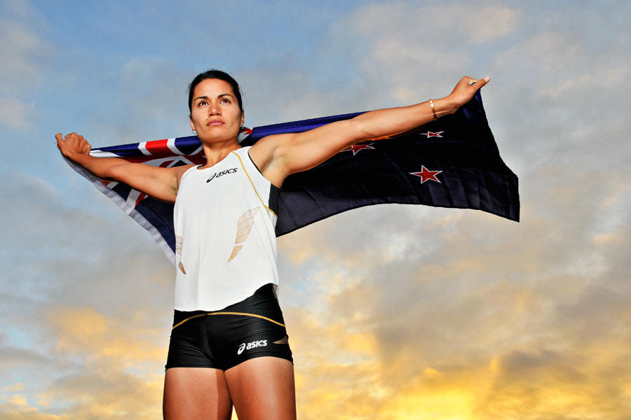 Photograph NZ heptathlete Sarah Cowley.  by XAVIER WALLACH on 500px