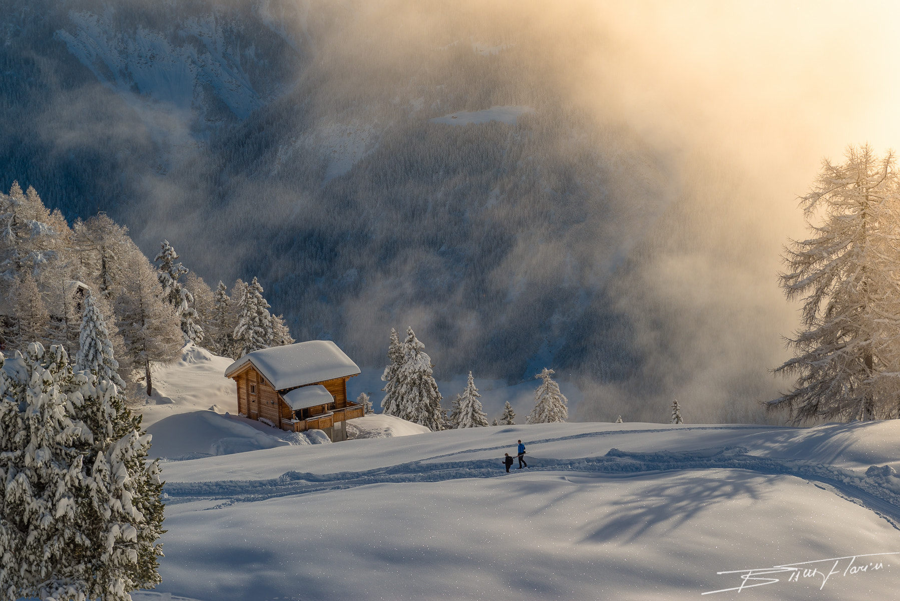 Photograph Walking on the snow by Florin Biscu on 500px