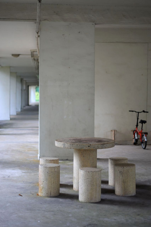 Old Void Deck in Singapore