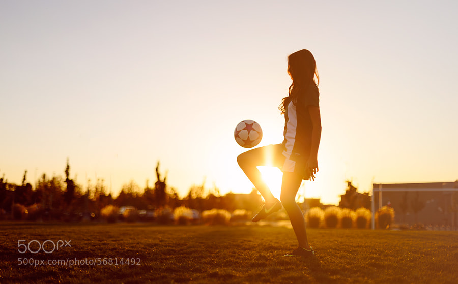 Photograph Senior Soccer Sunset by Drew Poland on 500px