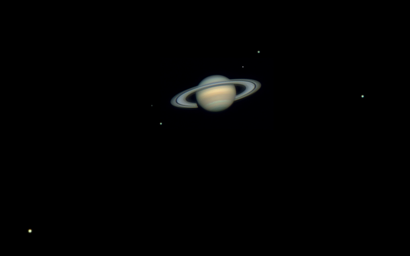 Photograph Six Saturn Moons by Rafael Defavari on 500px