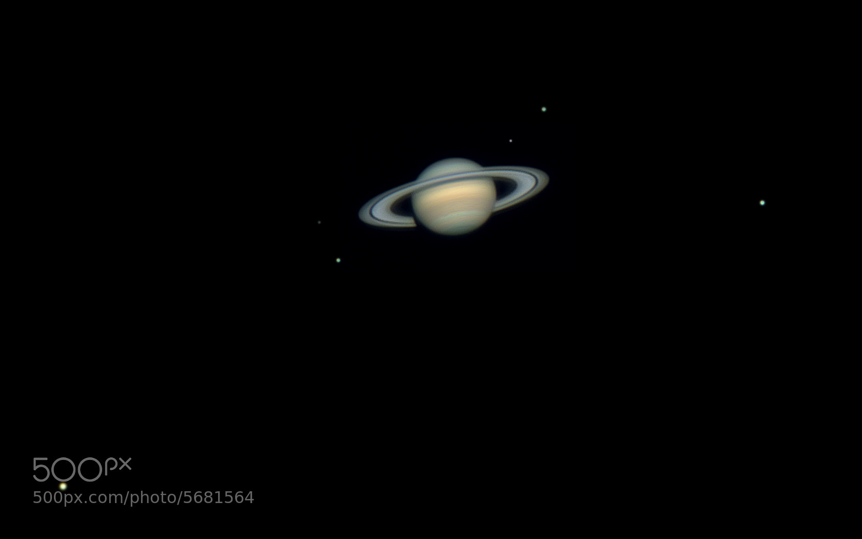 Photograph Six Saturn Moons by Rafael Defavari on 500px