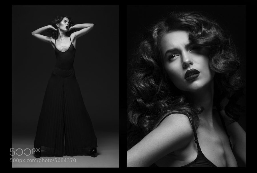 black and white diptych by Mari Homa