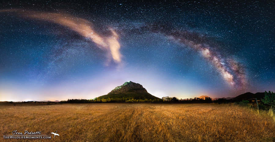 Photograph Milky way Castle by Ivan Pedretti  on 500px