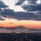 Постер, плакат: Napoli Sunset on Campi Flegrei