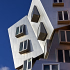 Stainless Steel Structure of the Ray and Maria Stata Center at MIT in Cambridge Massachusetts