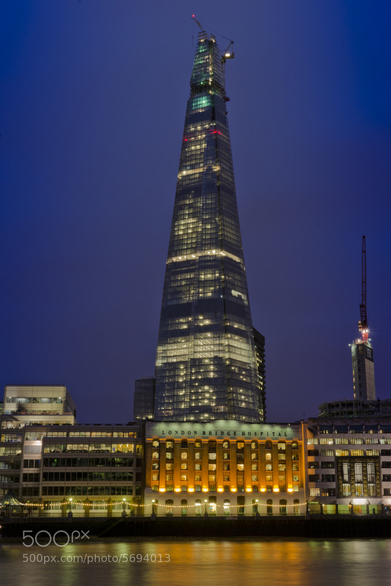 Photograph Shard at Night by Andy Cavell on 500px