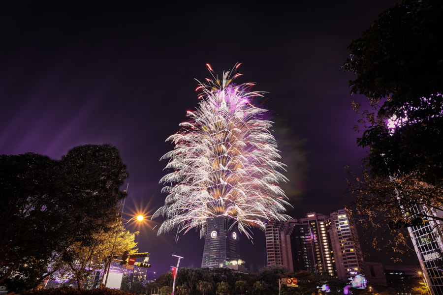 most beautiful cities in the world - 2014 Taiwan, Taipei 101 fireworks by Wiwi Liu on 500px.com