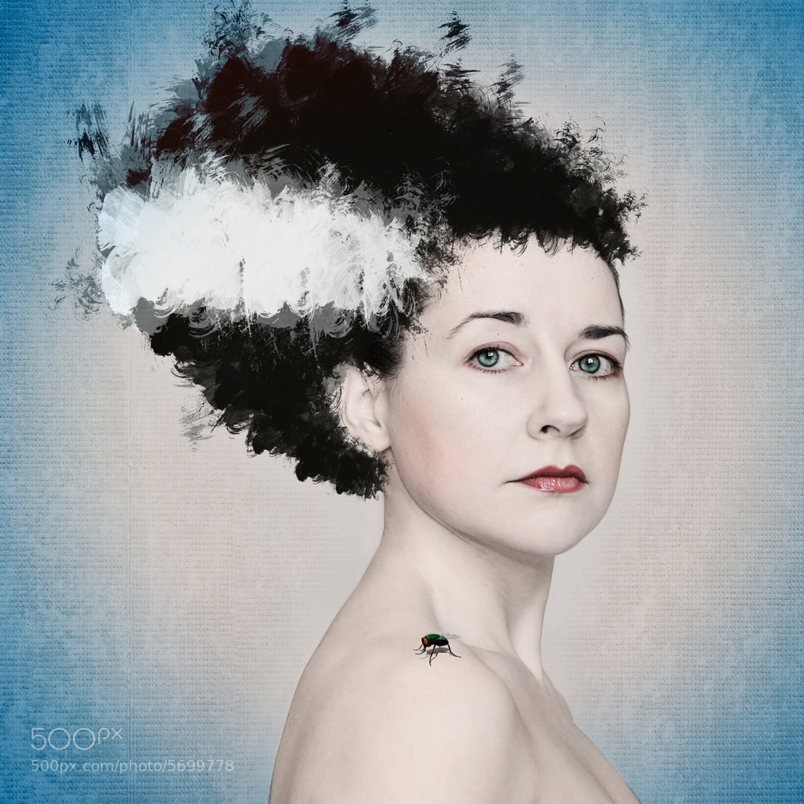 Photograph Self portrait Bride of Frankenstein by Beth Duri on 500px