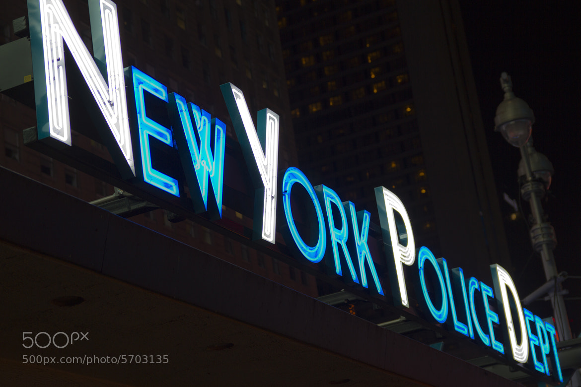 Photograph NYPD Neon by Ashe  on 500px