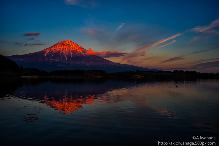 Fuji evening glow