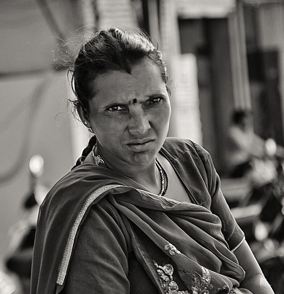 Photograph Lady at the Market (b&w) by John Hoey on 500px