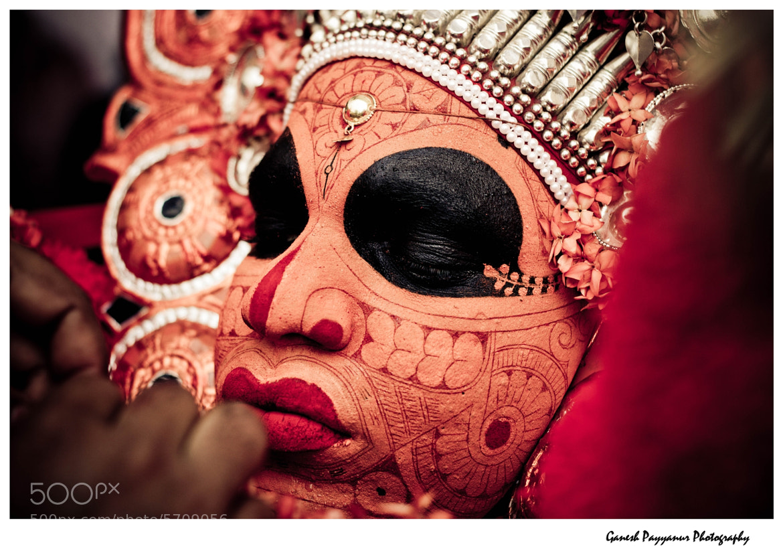 Photograph Vishnumoorthi theyyam- prepairing for the act by Ganesh Payyanur on 500px
