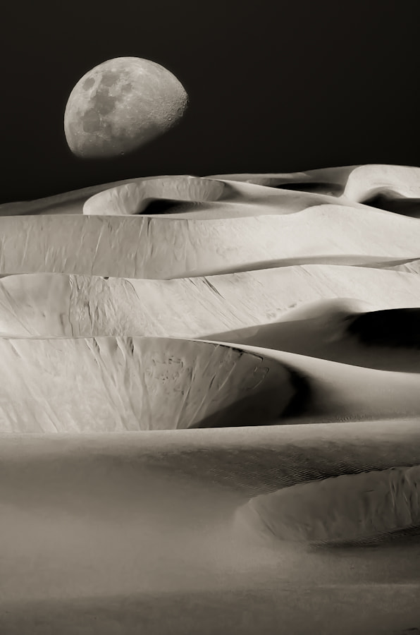 Photograph Dunes Under The Moon by Mario Moreno on 500px