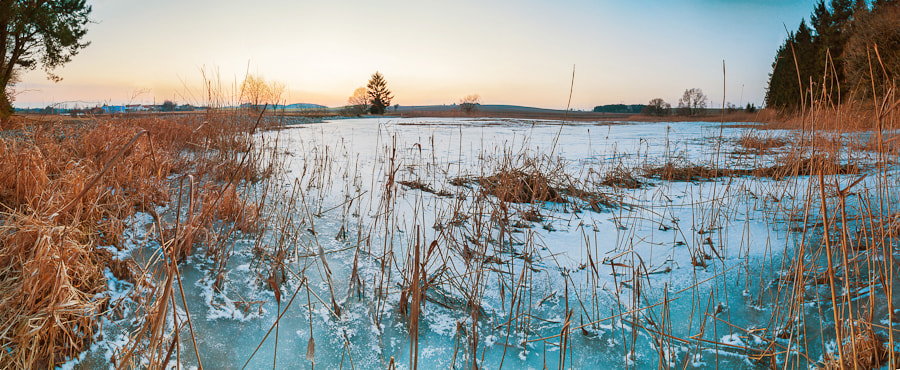 Photograph Frozen lake panorama by Tomas Pospichal on 500px