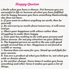Постер, плакат: Happy Sayings