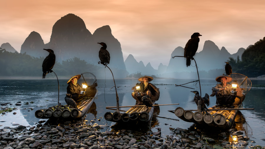 Fisherman talks by Anton  on 500px.com