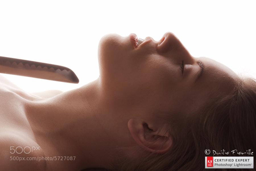 Photograph Katana sword near woman throat by Duilio Fiorille on 500px