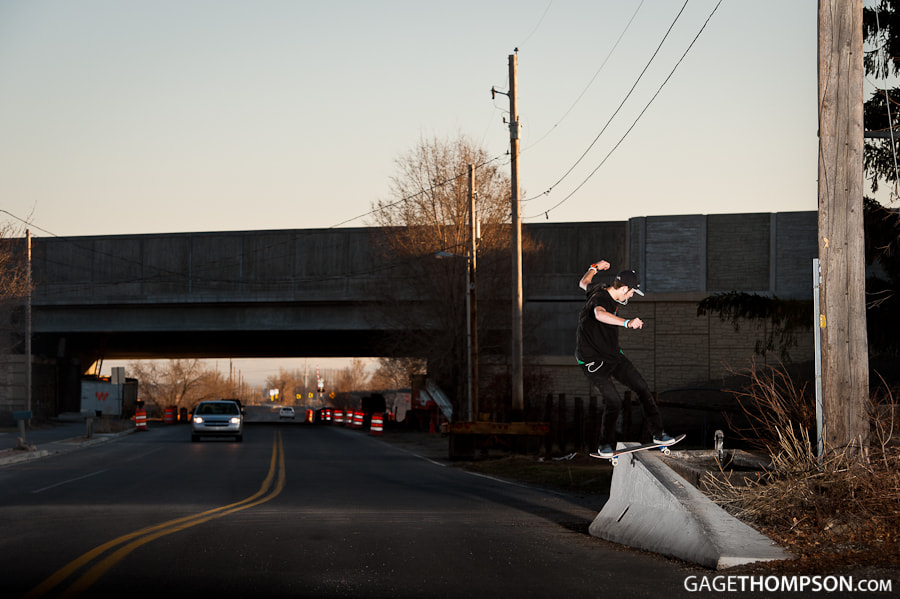 Photograph Frontside Boardslide by Gage Thompson on 500px