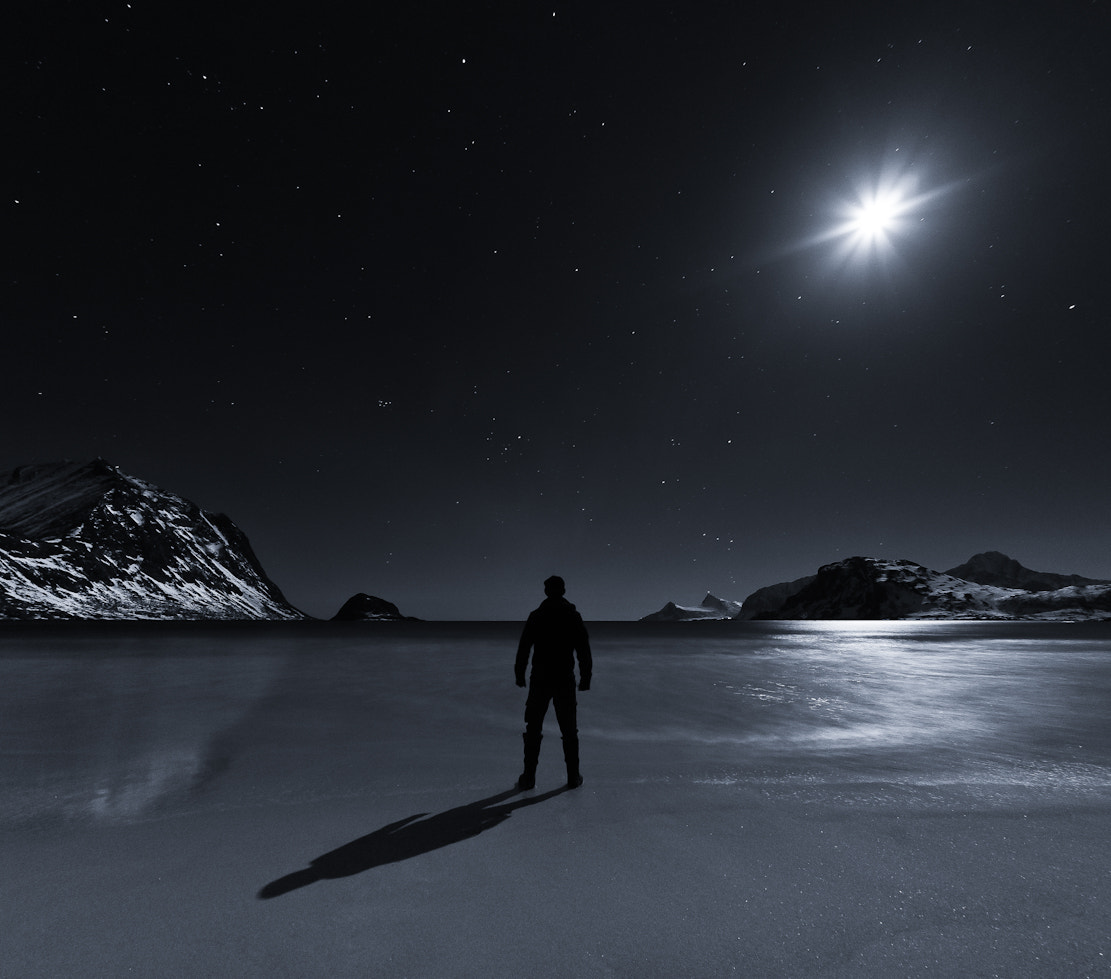 Photograph The moon and the man by audun nygaard on 500px
