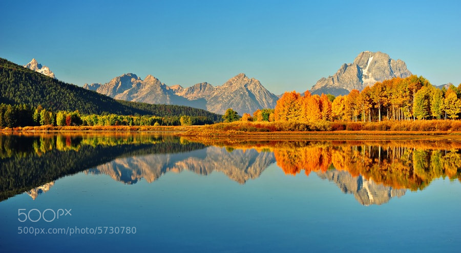 Photograph Autumn in Jackson Hole by Jeff Clow on 500px