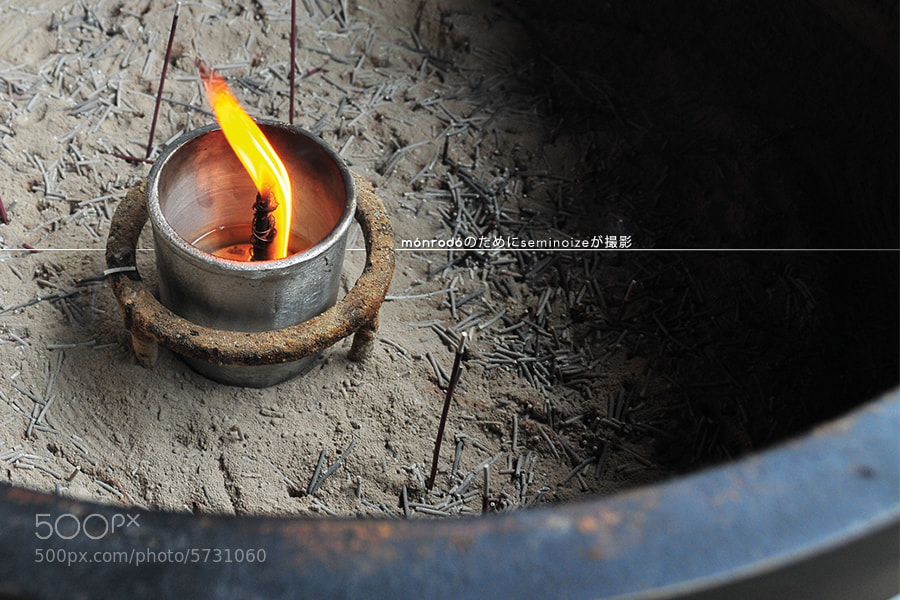 Photograph Flame at Kiyomizu-dera Temple by Món Rodó Viajes  on 500px