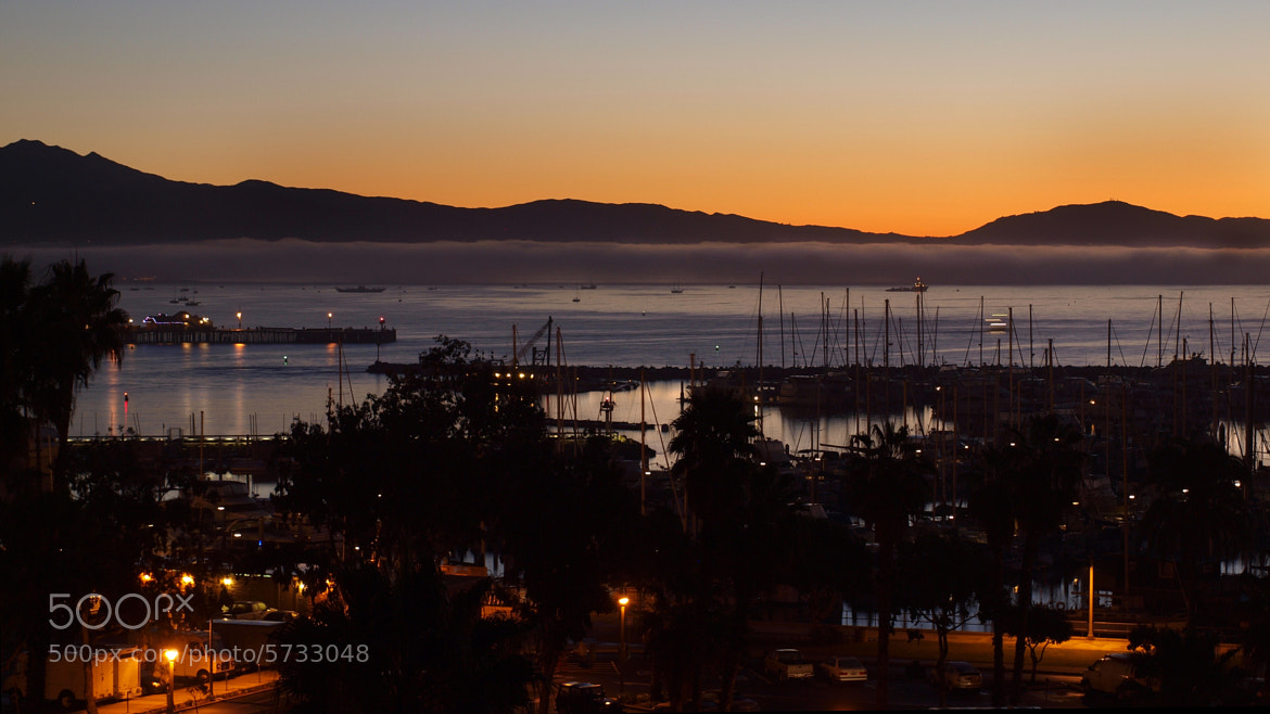 Photograph 1 January - New Year Morning Santa Barbara harbor by DJ Mihora on 500px