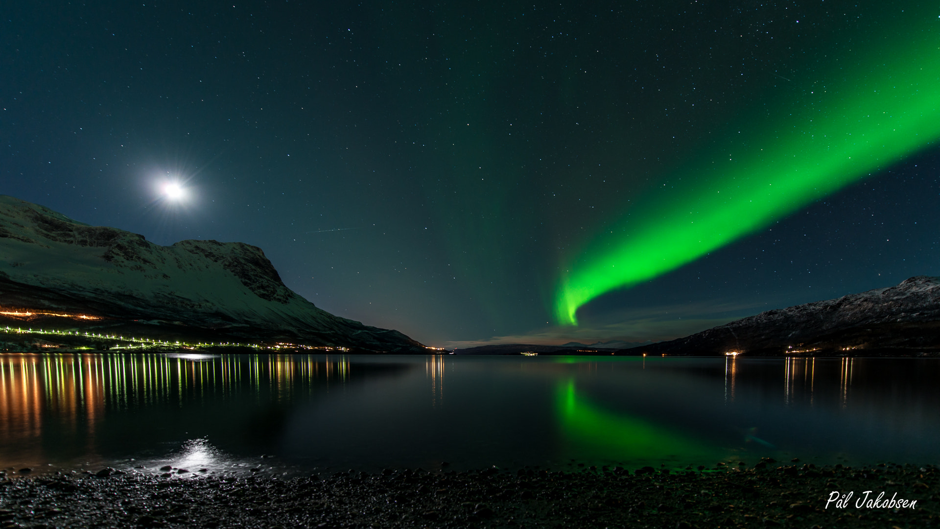 Photograph Moon light and Aurora borealis by Pål Jakobsen on 500px