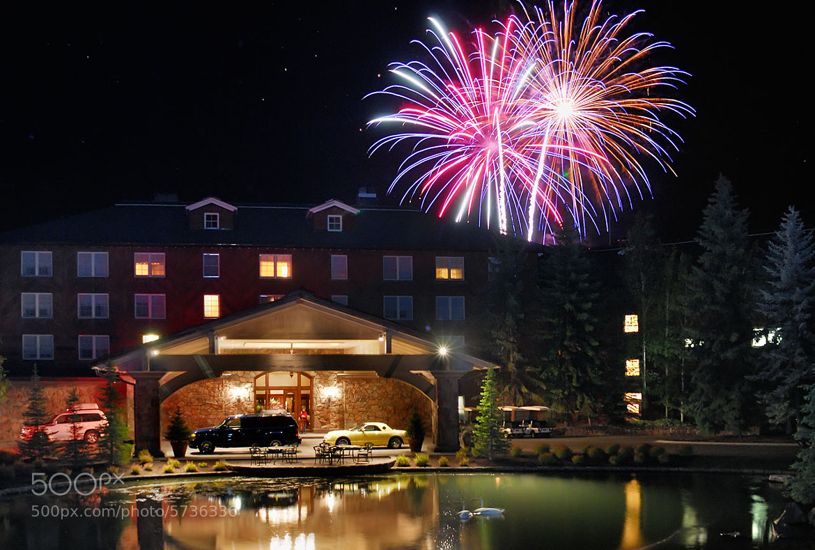 Photograph Sun Valley Lodge Fireworks by Tory Taglio on 500px