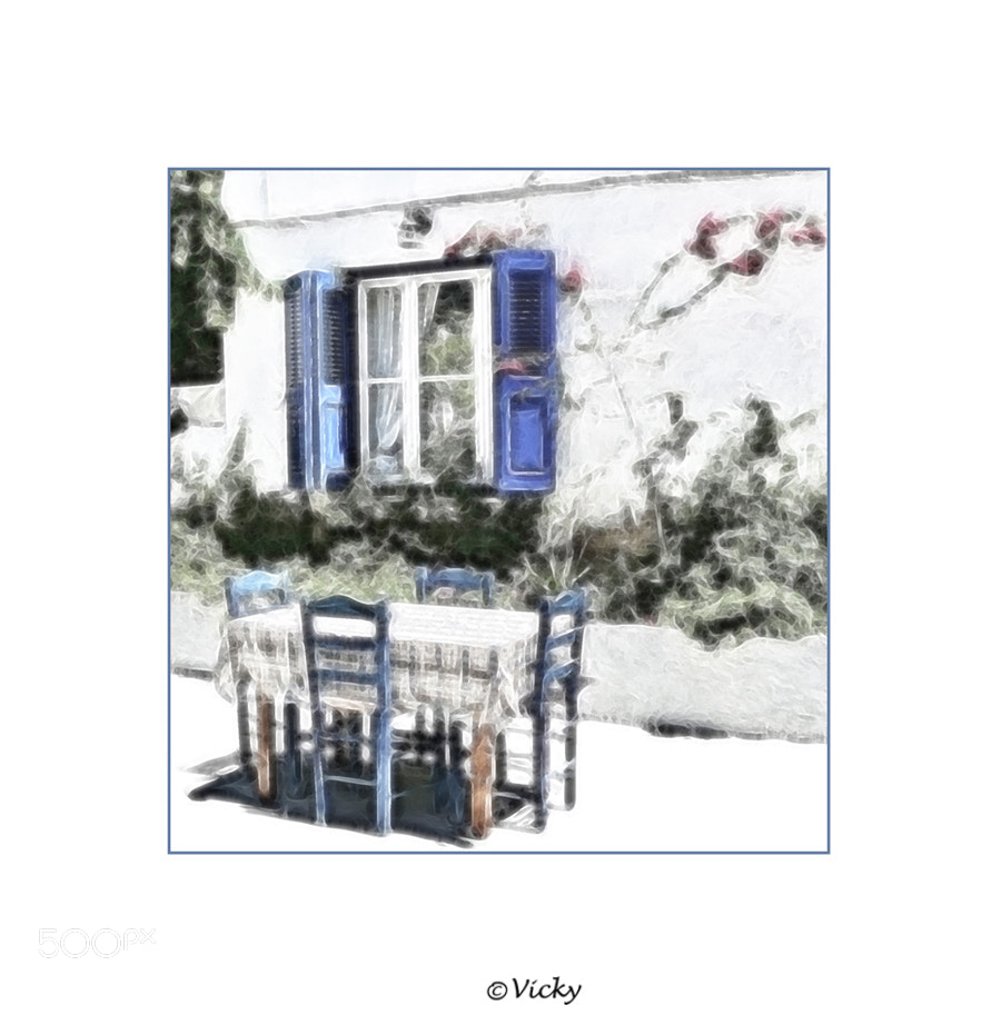 Photograph table for four, Kos by Vicky Dens on 500px