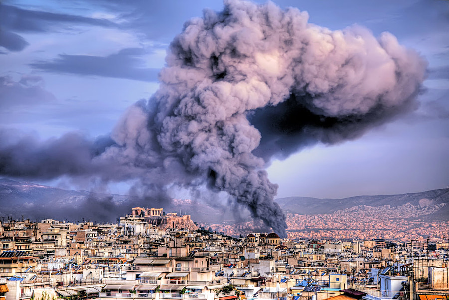 Photograph Fire in Athens by Stamatis Gr on 500px