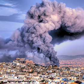 Fire in Athens by Stamatis Gr (StamatisGr)) on 500px.com