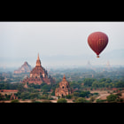 My photographic tour group enjoyed an amazing hot air balloon flight over Bagan, Myanmar.