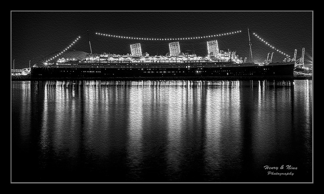 Photograph Ship by Night Mono by Henry Nguyen on 500px