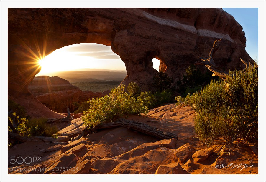 Photograph Light at Partition Arch, Utah by Robert Rodriguez Jr on 500px