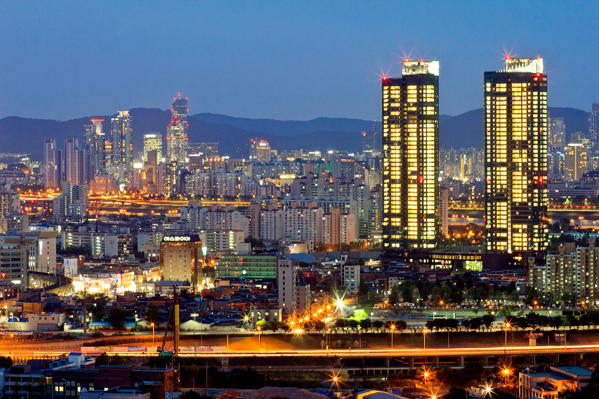 Photograph Nightview of Seoul, Korea by Terry Yang on 500px