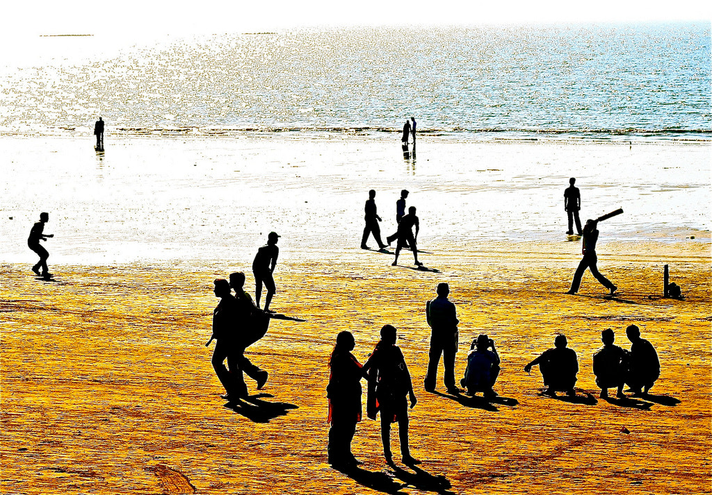 Photograph Cricket on the Beach in India by Rod Doyle on 500px